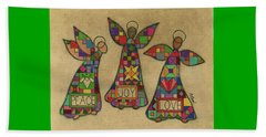 Peace,joy,love Beach Towel