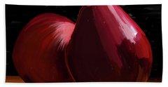 Peach And Pear 01 Beach Towel by Wally Hampton