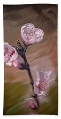 Beach Towel featuring the photograph Peach Blossom by David Waldrop
