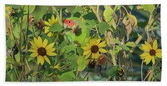 Peach-faced Lovebird 5890-092517-1 Beach Towel