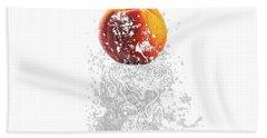 Peach Splash Beach Towel
