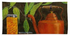 Peach Tea Beach Towel by Mike Caitham
