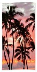 Peachy Palms Beach Towel
