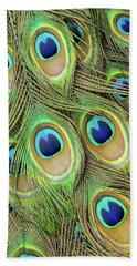 Living Peacock Abstract Beach Towel