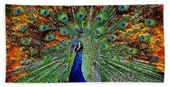 Peacock Exploding Beach Sheet