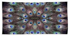 Peacock Eye Kaleidoscope Beach Towel