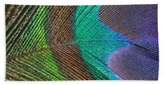 Peacock Feather Close Up Beach Towel