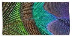 Peacock Feather Close Up Beach Sheet