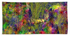 Beach Towel featuring the photograph Peacock Feathers by EDi by Darlene