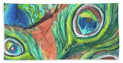 Peacock Feathers Beach Sheet