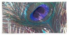 Beach Towel featuring the photograph Peacock In Pastel by Angela Murdock
