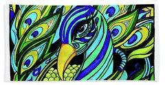 Peacock Beach Towel