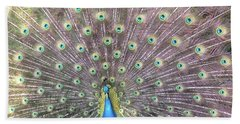 Peacock Splendor Beach Towel