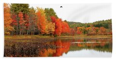 Peak New England Foliage Beach Towel