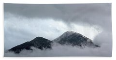 Beach Towel featuring the photograph Peaking Through The Clouds by Shane Bechler