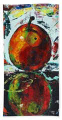 Pear And Reflection Beach Towel
