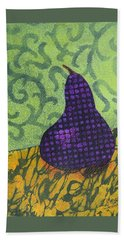 Beach Sheet featuring the painting Pear Patterns by Nancy Jolley