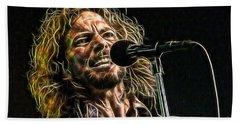 Pearl Jam Eddie Vedder Collection Beach Sheet by Marvin Blaine
