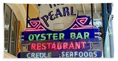 Pearl Oyster Bar Beach Towel