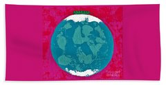 Peas On Earth  Beach Towel