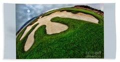 Pebble Beach Golf Cource Beach Towel