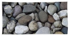 Beach Sheet featuring the photograph Pebbles 1 by Don Koester