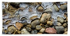 Pebbles And Ice Beach Sheet