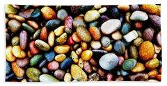 Pebbles On A Beach Beach Towel