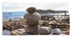 Peceful Zen Rocks Beach Sheet