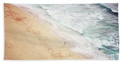 Beach Towel featuring the photograph Pedn Vounder by Lyn Randle