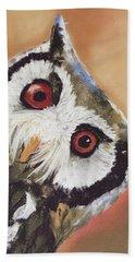 Peekaboo Owl Beach Towel