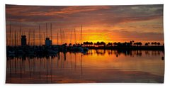 Peeking Sun Beach Towel