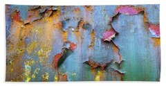 Peeling Paint And Rust Textures 135 Beach Towel