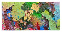 Peeling Paint Colors Beach Towel by Todd Breitling