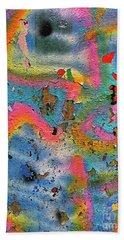 Peeling Paint Graffiti Beach Sheet by Todd Breitling