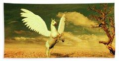 Pegasus By Mary Bassett Beach Towel