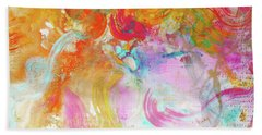 Beach Towel featuring the painting Pegasus by Eva Konya