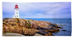 Peggys Cove Lighthouse Beach Sheet