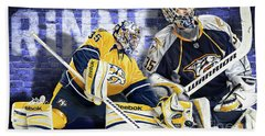 Pekka Rinne IIi Beach Towel by Don Olea