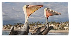 Pelican - A Happy Landing Beach Towel