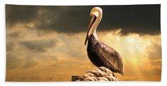 Pelican After A Storm Beach Sheet