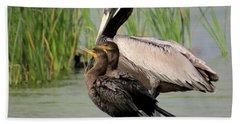 Pelican And Twins Beach Sheet
