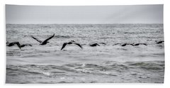 Pelican Black And White Beach Towel