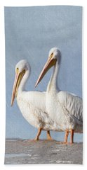Beach Towel featuring the photograph Pelican Duo by Kim Hojnacki
