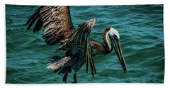 Pelican Glide Beach Towel