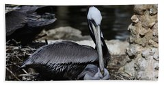 Pelican Hug Beach Towel