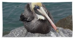 Pelican Beach Towel by John Mathews