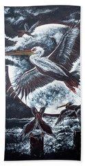Pelican Moon Beach Towel