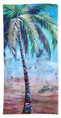 Pelican Palm I Beach Sheet by Kristen Abrahamson