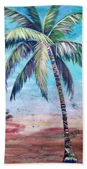 Pelican Palm II Beach Sheet by Kristen Abrahamson